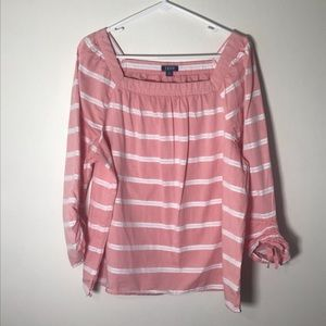 Izod Woman's  Pink and White Striped Top